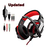Gaming Headset Furnizone GM-2 Headphone with Mic for PlayStation 4 PC Laptop Xbox One Surround Stereo Wired Headset 3.5mm Over Ear Headphone 7.1 Channel Virtual USB Volume Control Noise Canceling