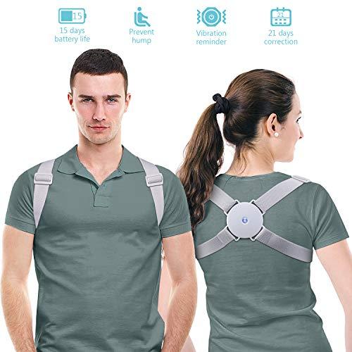 🥇 MeaMae Care Corrector de postura – Corrector de espalda inteligente con función de vibración para aliviar el dolor de espalda