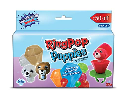 Topps India Ring Pop Puppies Series 1, Pack of 3
