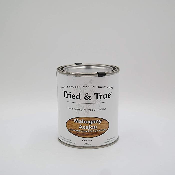 Tried and True Wood Stain- 100% solvent free, zero VOC, and safe for food and skin contact (Pint, Mahogany)