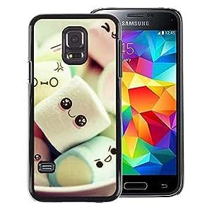 A-type Arte & diseño plástico duro Fundas Cover Cubre Hard Case Cover para Samsung Galaxy S5 Mini (Not S5), SM-G800 (Cute Japanese Marshmallow Sweets)