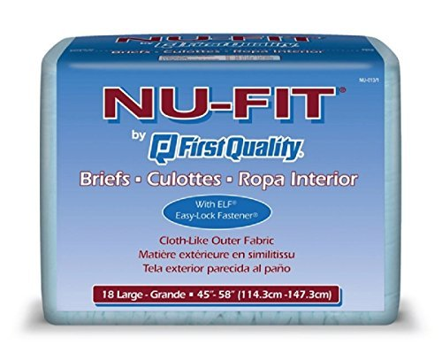First Quality Nu-Fit Adult Briefs, Large, 45