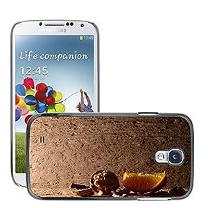 Etui Housse Coque de Protection Cover Rigide pour // M00151595 Nuez Naranja Navidad Pcs Orange // Samsung Galaxy S4 S IV SIV i9500