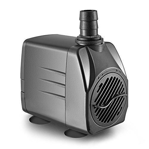 OBVIS 265 GPH Submersible Pump Indoor Outdoor Water Fountain Pond Aquarium Quiet US Plug (Indoor Pump Fountain)
