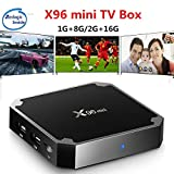 Amzchen X96 mini Android 7.1 TV BOX 2GB 16GB Amlogic S905W Quad Core 2.4GHz WiFi Media Player X96mini Set-top Box with IR Cable