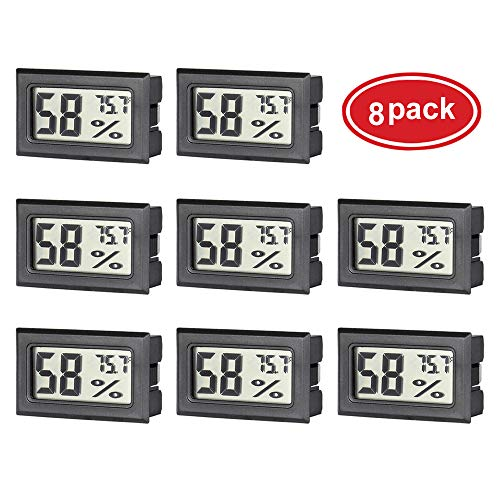 AUTIDEFY 8 Pack Mini Digital Electronic Temperature Humidity Meters Gauge Indoor Thermometer Hygrometer LCD Display Fahrenheit (℉)