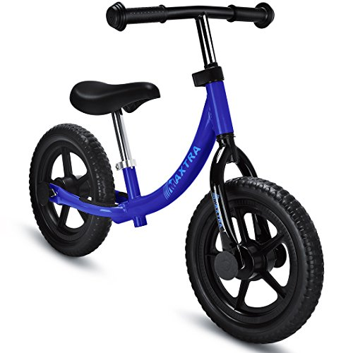 Maxtra Lightweight Balance Bike No Pedal Bicycle Adjustable Handlebar and Seat for Ages 2 to 5 Year Old Dark Blue by Maxtra