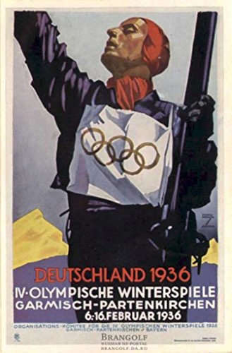 1936 Olympic Games Poster: Nazi Germany: Fine Giclee Poster
