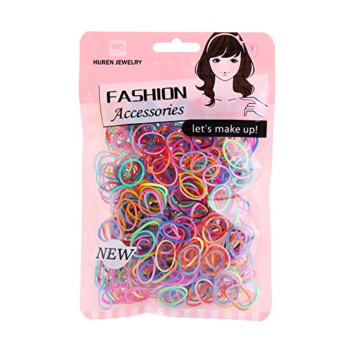 Multi Candy Color Baby Girl's Kids Hair Holder Hair Ties Elastic Rubber Bands, -