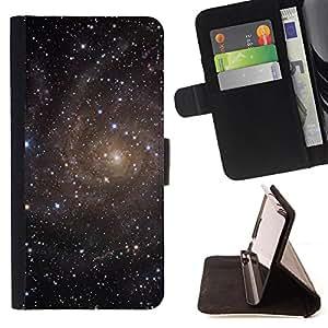 Dragon Case- Mappen-Kasten-Prima caja de la PU billetera de cuero con ranuras para tarjetas, efectivo Compartimiento desmontable y correa para la mu?eca FOR HTC One M7- Space Night Nebula