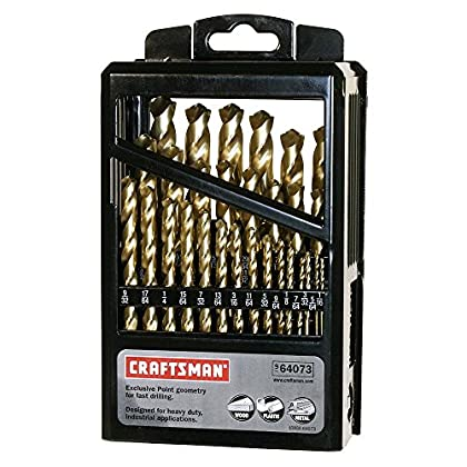 Image of Home Improvements Craftsman 9-64073 Titanium Coated Drill Bit Set, 29 Piece