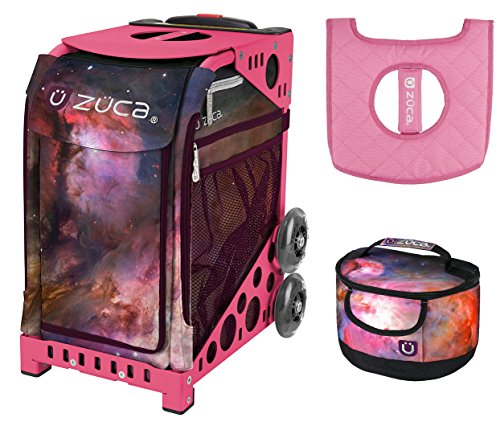 Zuca Sport Bag - Galaxy with Gift Lunchbox and Seat Cover (Pink Frame) by ZUCA