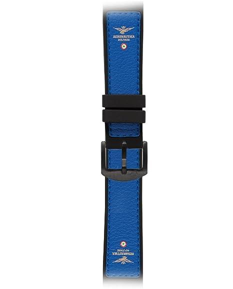 Aeronautica Militare glr17blp Cinturino in gomma, colore