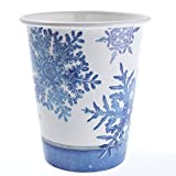 Blue Snowflake Cups