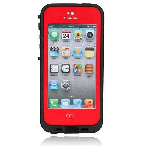 SMARTBUY2000 WATERPROOF DURABLE CASE FOR IPHONE 5 5S SOLD BY SMARTBUY2000 (RED)