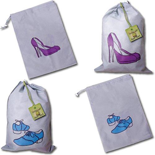 12er Set Schuhbeutel Damen & Herren (jeweils 6 Stück)