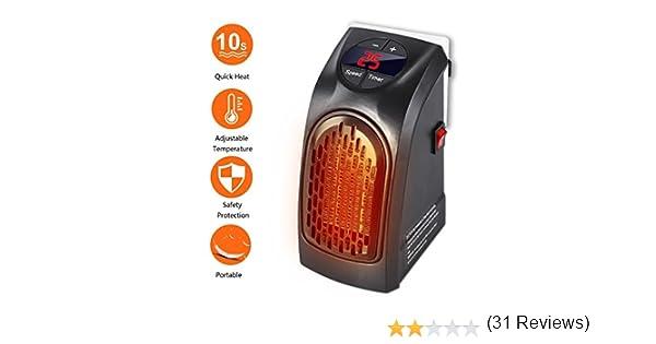 Handy Heater - Gesundhome 350W Mini Portátil Estufa Eléctrico Calefactor Cerámicos Calefacción de Pared Termoventilador con Digital Termostato Ajustable ...