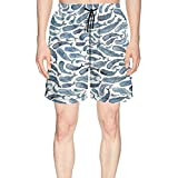 XULANG Mens for The Love of Whale Swim Trunks Jogging Skate Knee Length Boardshorts