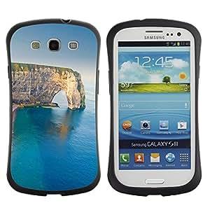 "Hypernova Slim Fit Dual Barniz Protector Caso Case Funda Para SAMSUNG Galaxy S3 III / i9300 / i747 [Sea Cliff verano Naturaleza Geología""]"