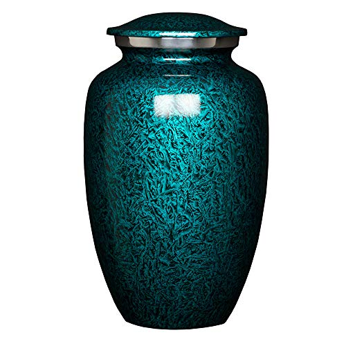 Perfect Memorials Large Deep Sea Brushed Cremation Urn