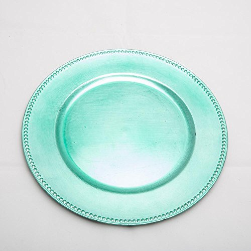 Richland Charger Plate Beaded Round 13'' Aqua Blue by Richland