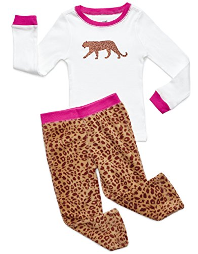 Fleece & Cotton 2 Piece Pajama Leopard 3 Years