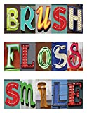 Practicon 512042 Brush Floss Art Practicare Postcard (Pack of 200)