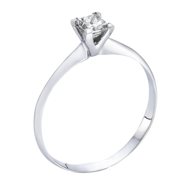 Amazon White Gold Wedding Bands 43 Elegant  ct Certified Diamond
