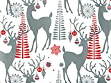 NW16884H24 * Decorative Deer 24''x417' Roll Gift Wrap