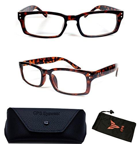 Designer Nerd Square Black Reading Glasses Optic Frame Women Men Unisex Reader - Discount Designer Glasses Reading