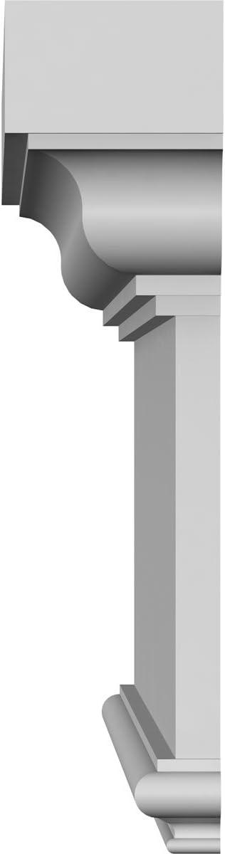 Ekena Millwork CRH14X32ST 32 Bottom 37 1//4 Top Width x 13 3//4 H x 7//8 P Standard Crosshead Width Width Factory Primed White