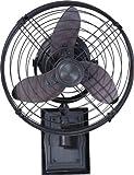 Ellington FAR14ABZ3W, Faraday Three Blade Aged Bronze Outdoor Wall Fan, 14'' Span, Damp Rated