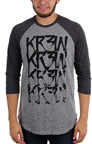 kr3w-drybrush-raglan-t-shirt-3-4-sleeve-mens-grey-heather-s