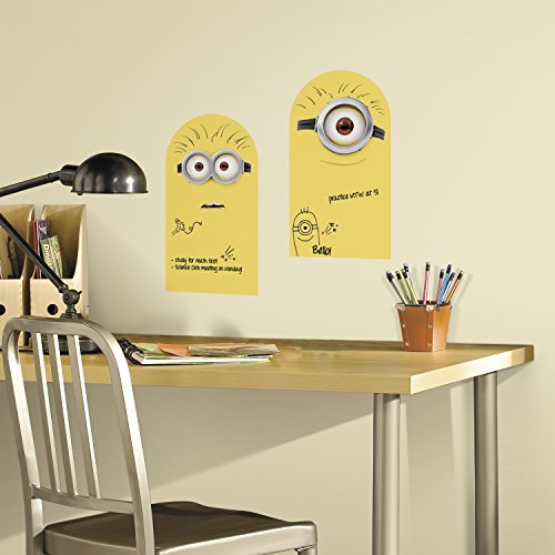 RoomMates Minion Dry Erase Peel And Stick Wall Decals]()