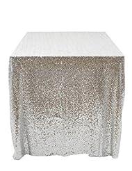 Bon 50u0027u0027x50u0027u0027 Square Silver Sequin Tablecloth Select Your Color U0026 Size Can
