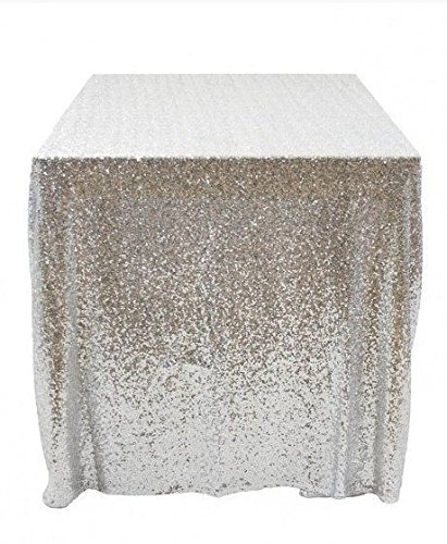50''x50'' Square Silver Sequin Tablecloth Select Your Color & Size Can Be Available ! Sequin Overlays, Runners, Gatsby Wedding, Glam Wedding Decor, Vintage Weddings]()