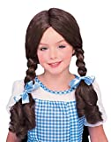UHC Girl's Dorothy Wig Wizard Of Oz Pigtails Halloween Child Costume Accessory