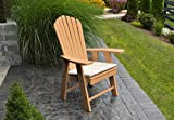BEST POLY WOOD ADIRONDACK CHAIR PORCH FURNITURE & PATIO SEATING, Upright Design for Stylish Outdoor Living, Perfect for Front Entry & Back Yard, Fire Pit & Pool Side, Fun Color Choices(Cedar)