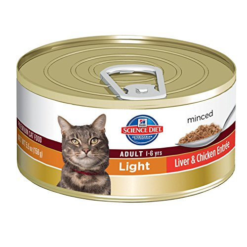 Hill's Science Diet Adult Light Liver and Chicken Entree Minced Cat Food, 24-Pack