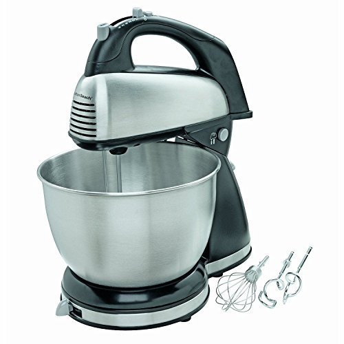 New! Hamilton Beach - 6-speed Classic Hand/stand Mixer - Stainless-steel/black by Electric California