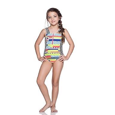 961cef1c7a2 Amazon.com  ONDA DE MAR AZTECA GIRLS ONE PIECE SWIMSUIT  Clothing