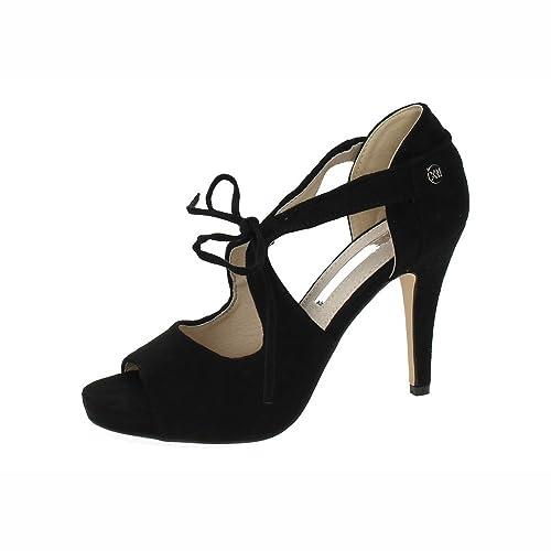 495863c12 XTI 30741 Tacones Finos Negros Mujer Sandalias TACÓN  Amazon.es  Zapatos y  complementos
