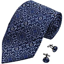 YAB1B09 Various of Colors Patterned Urban Presents Mens Silk Tie 2PT By Y&G