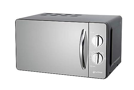 Grunkel MW-20ESP - Microondas de diseño en espejo color negro de ...