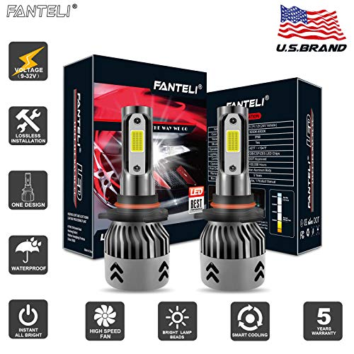 FANTELI 9006/HB4 LED Headlight Bulbs All-in-One Conversion Low Beam/Fog Driving Lights Kit - 72W 8000LM 6000K Xenon HID Cool White Lamp Replacments - 5 Years Warranty