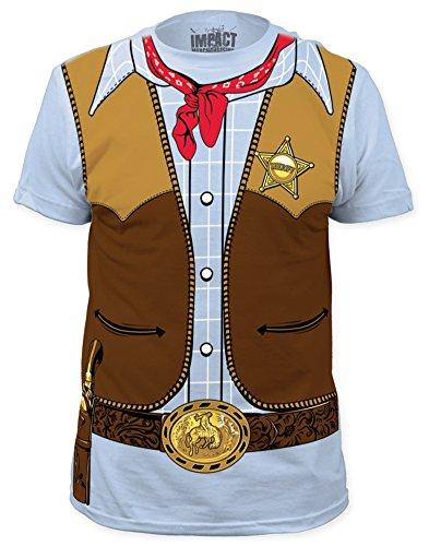 Cowboy Costume Tee (slim fit) T-Shirt Size XL (Mens Cowboy Costume Tshirt)