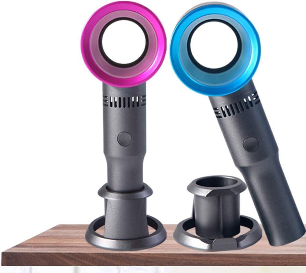 Abnehmbarer Basisl/üfter USB Wiederaufladbar mit 3 Geschwindigkeiten blattloser L/üfter Handheld-Desktop Leiser housesweet Kindersicherer