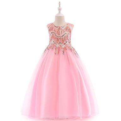 FIYOMET Vestido Formal para niñas Vestidos para niños Flor ...
