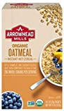 Arrowhead Mills Organic Instant Hot Cereal, Oatmeal, 10 Count Box (Pack of 6)