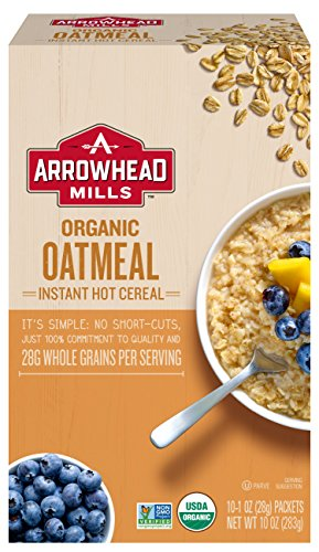 Arrowhead Mills Organic Instant Hot Cereal, Oatmeal, 10 Count Box (Pack of 6) Arrowhead Mills Hot Cereal